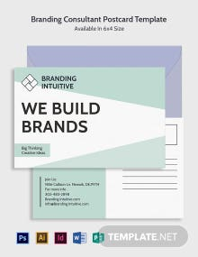 Free Branding Consultant Postcard Template
