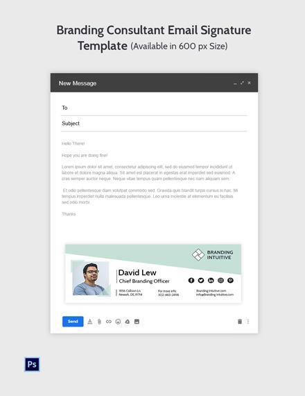 Branding Consultant Email Signature Template