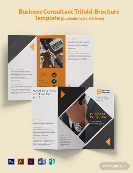 Business Consultant Tri-Fold Brochure Template