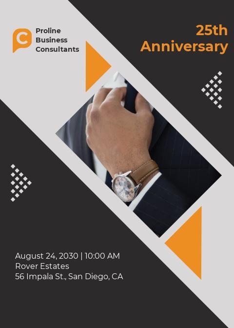 Business Consultant Invitation Template