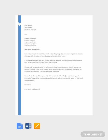 free two weeks notice example 440x570 1