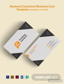 Business Consultant Business Card Template