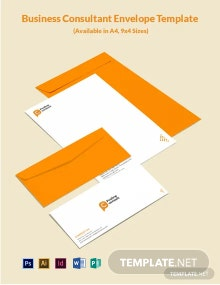 Business Consultant Envelope Template