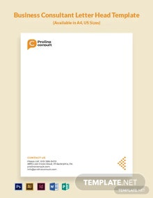 Business Consulting Letterhead Template
