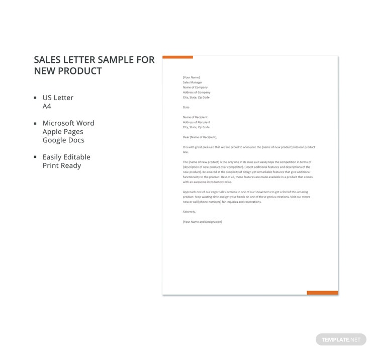 10 sales letter templates pdf doc free premium templates sales letter sample for new product 740x698 spiritdancerdesigns Image collections