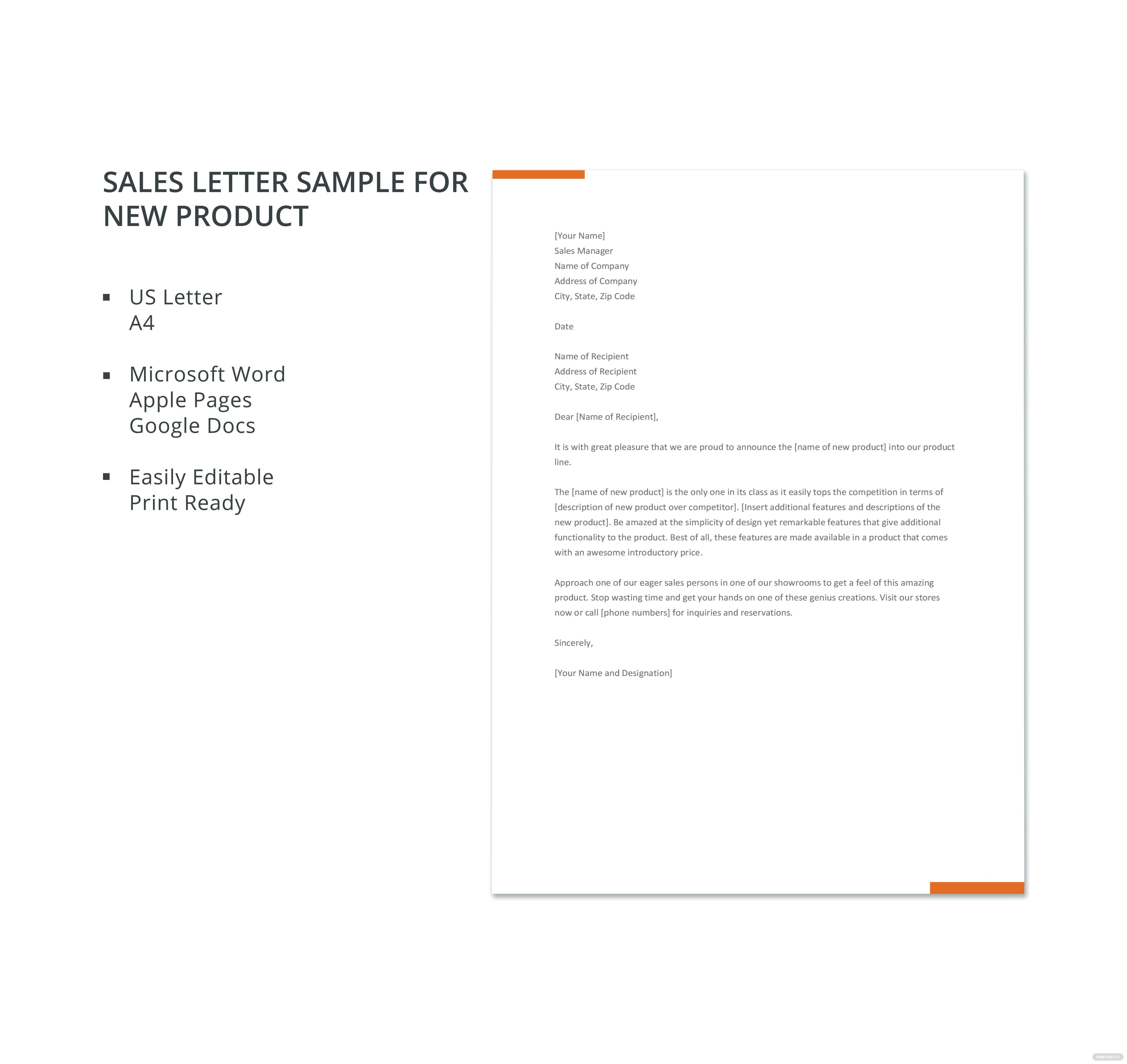 sales letter sample for new product template in microsoft