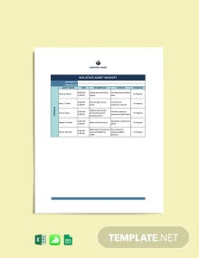 Real Estate Agent Timesheet Template