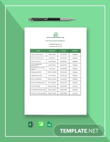 Real Estate Closing Worksheet Template