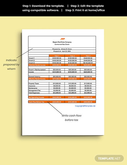 Free Commercial Real Estate Sheet Template sample