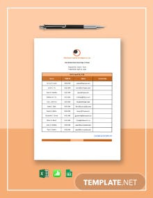 Free Simple Real Estate Open House Sign-in Sheet Template