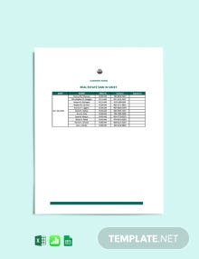 Real Estate Sign In Sheet Template