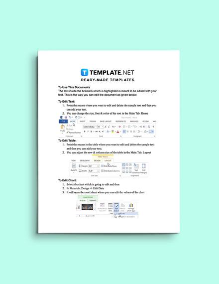 Real Estate Fact Sheet instruction