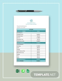 Real Estate Expense Worksheet Template