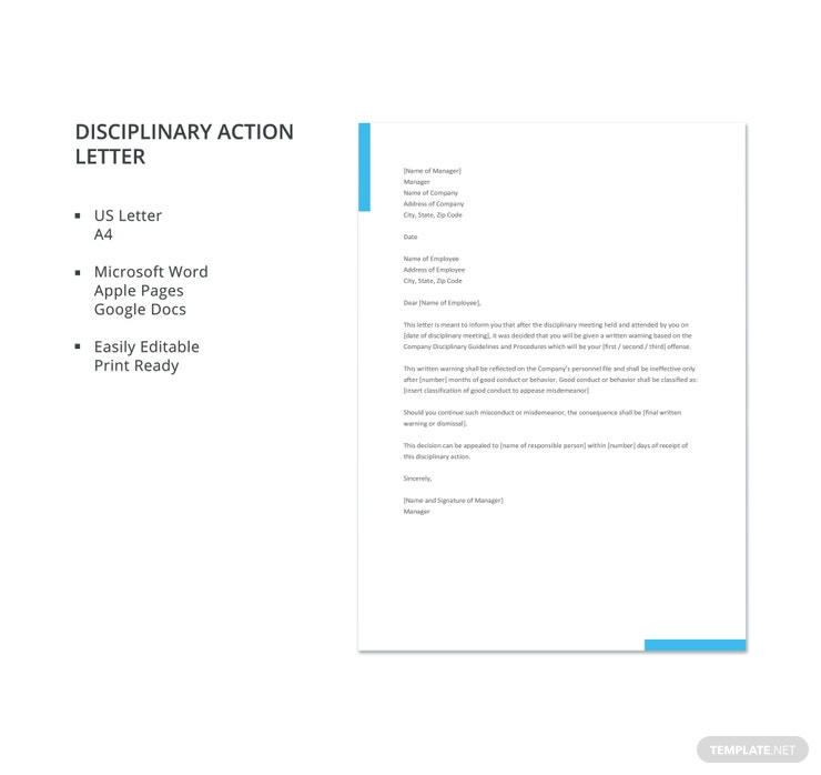 disciplinary action letter 740x698