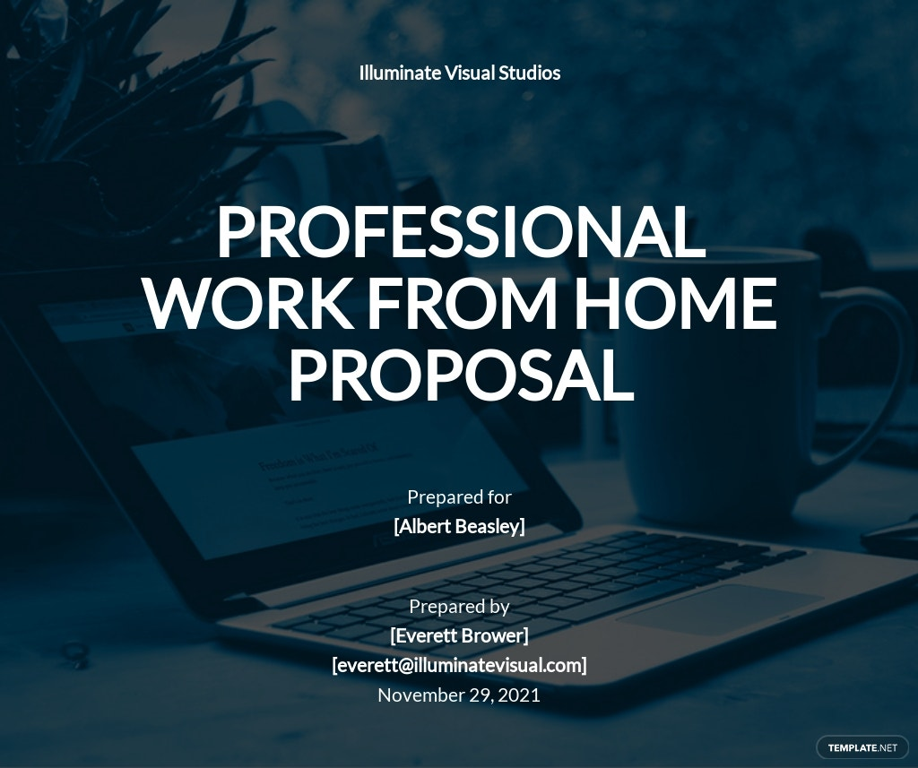 Free Professional Work From Home Proposal Template.jpe