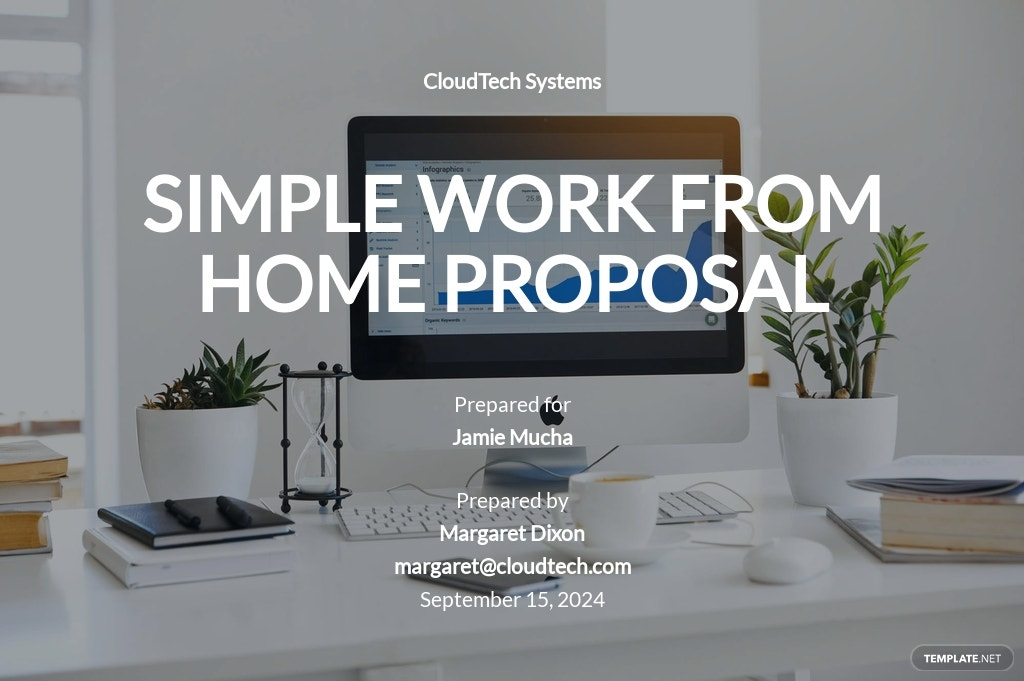 Simple Work From Home Proposal Template.jpe