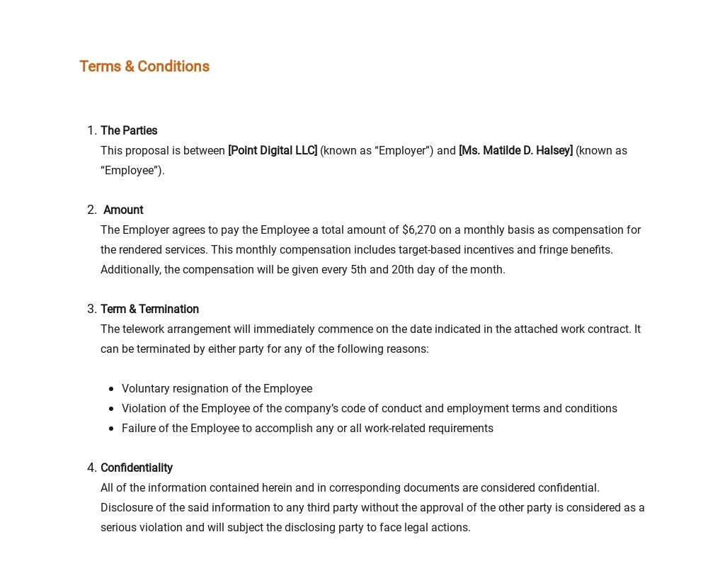 Free Sample Telework Proposal Template 6.jpe