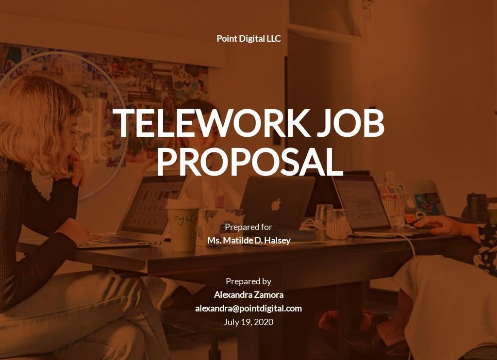 Free Sample Telework Proposal Template.jpe