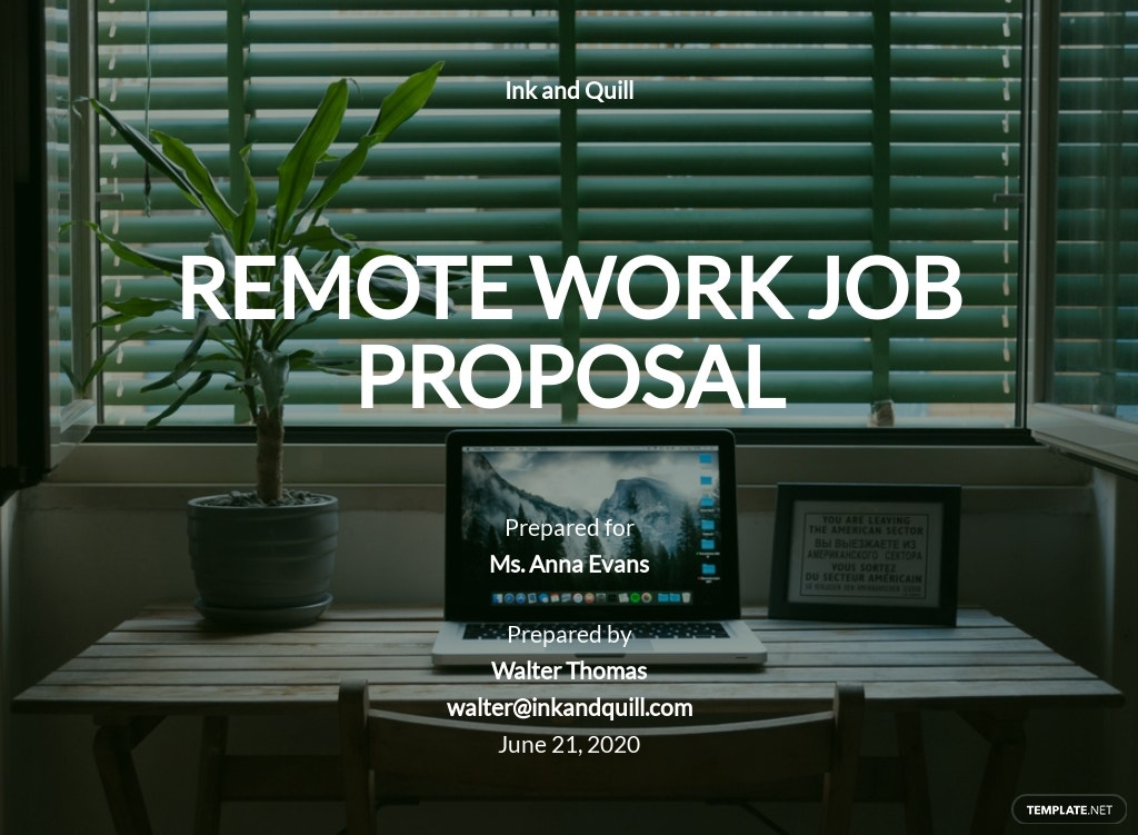 Remote Work Proposal Template