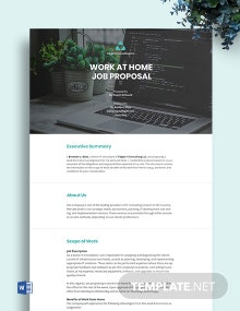 Work at Home Proposal Template