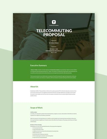 Telecommuting Proposal Template