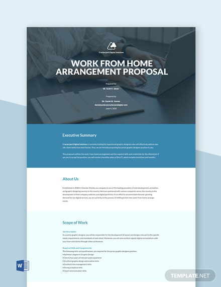 Employment Work From Home Proposal Template