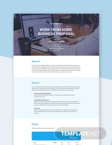 Work From Home Business Proposal Template