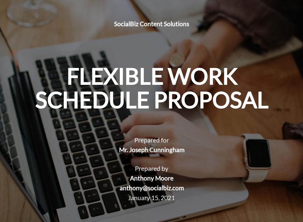 Flexible Work Schedule Proposal Template.jpe