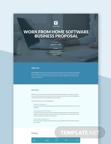 Business Proposal To Work From Home Template