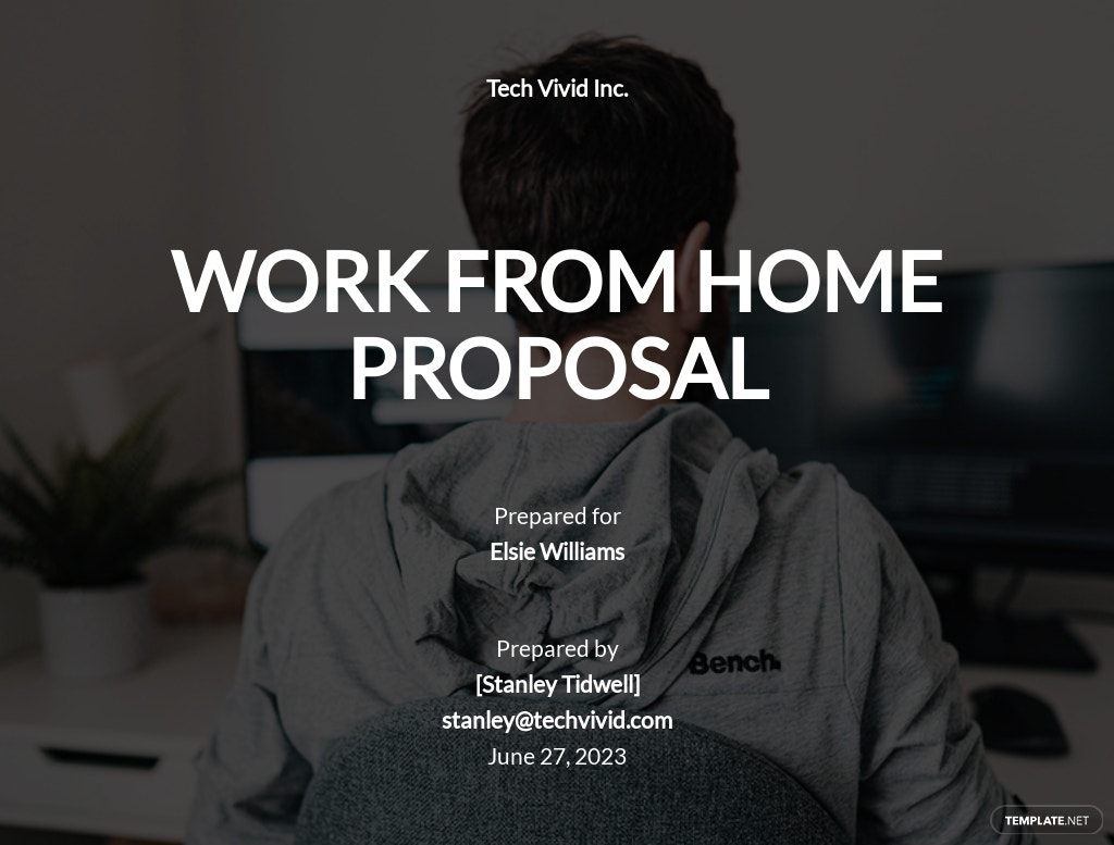 Company Work From Home Proposal Template