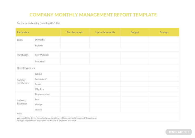 company monthly management report a4 1 740x523