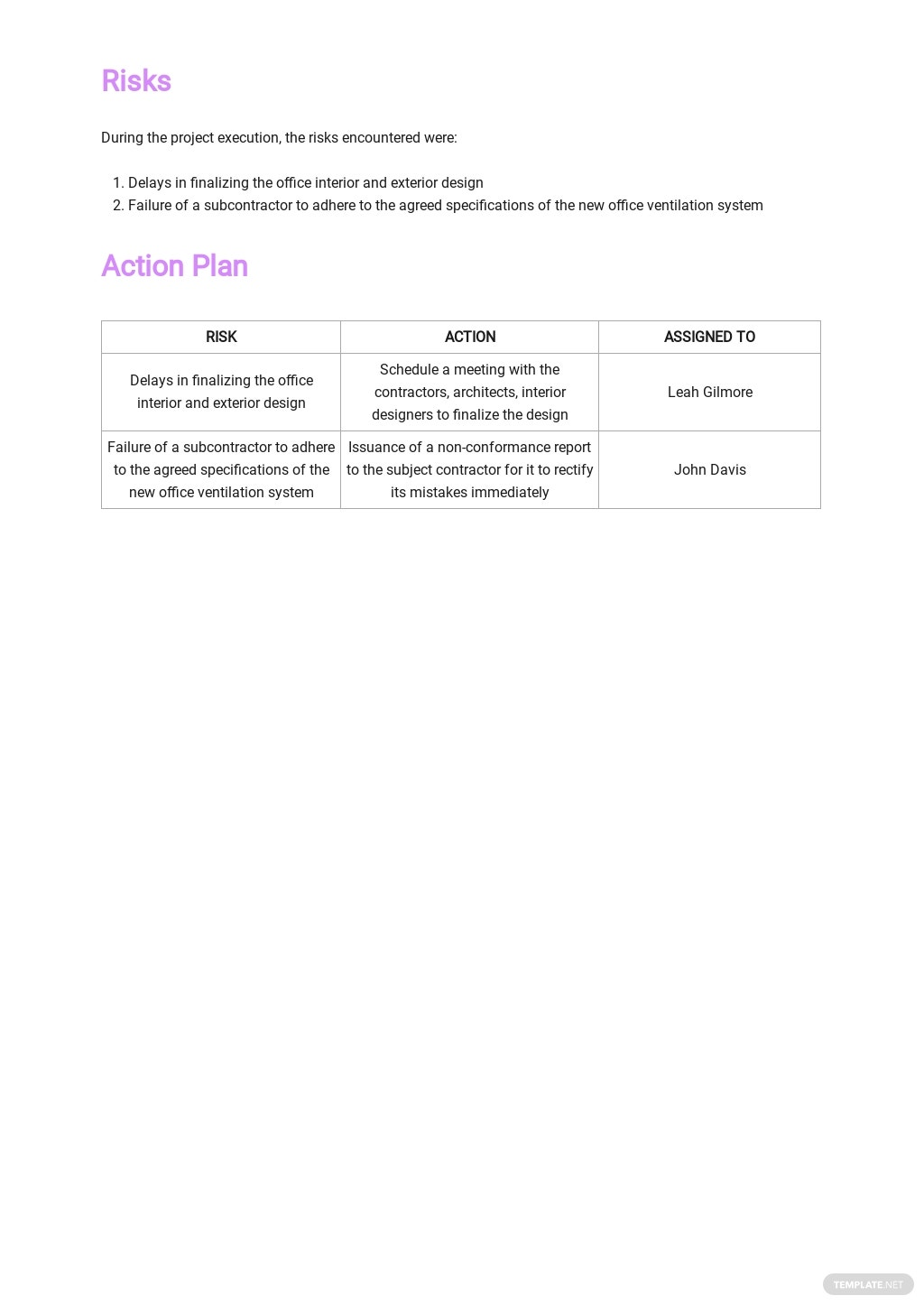Free Company Monthly Report Template 3.jpe