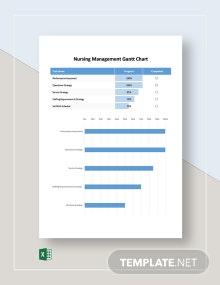 Nursing Management Gantt Chart Template
