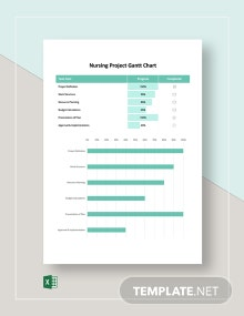 Nursing Project Gantt Chart Template