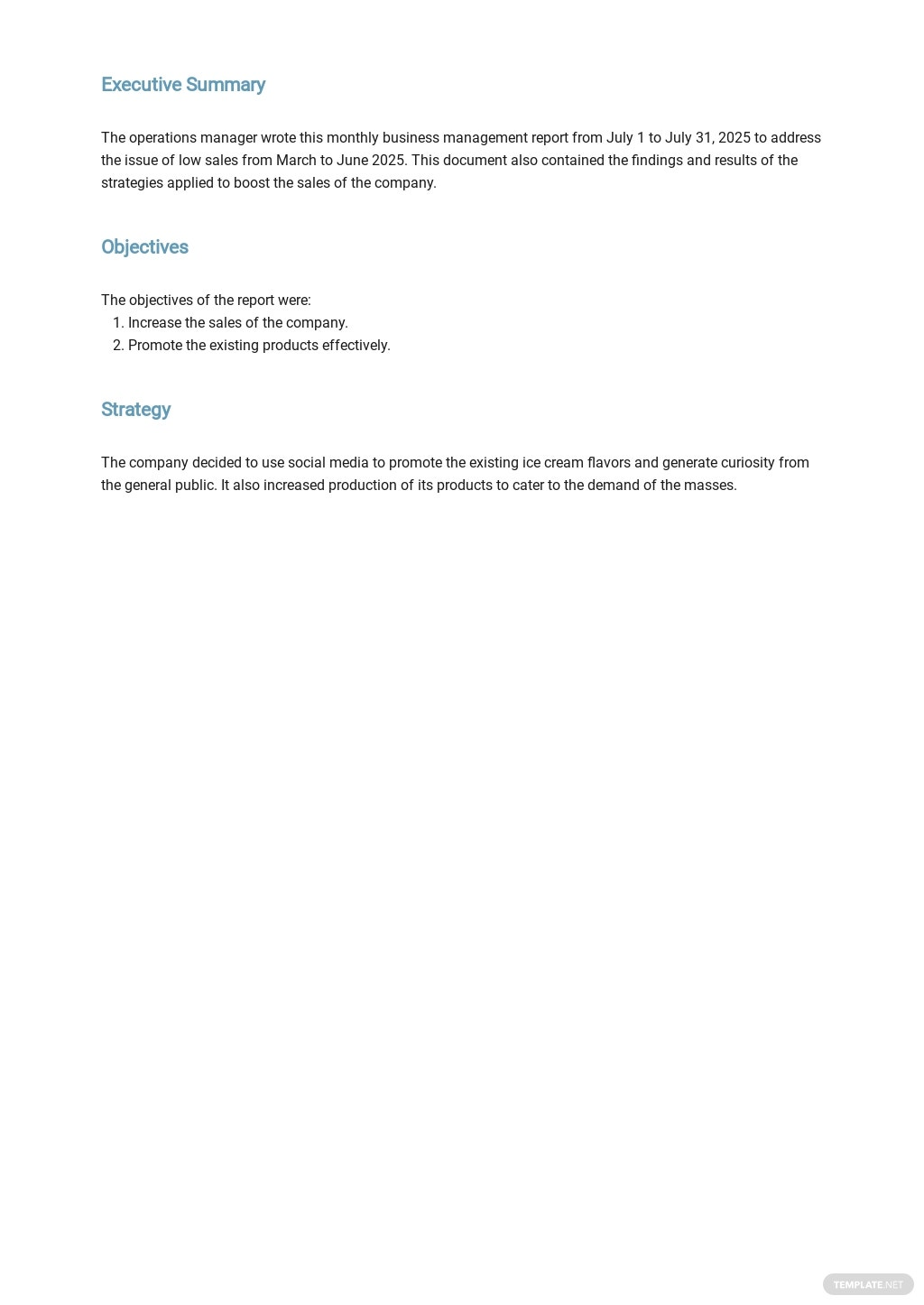 Free Monthly Business Management Report Template 1.jpe
