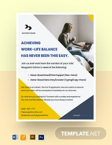 Free Modern Work From Home Flyer Template