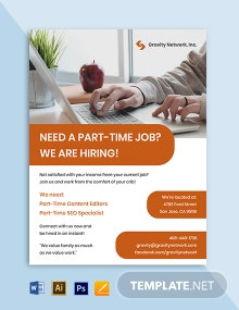 Part Time Work From Home Flyer Template