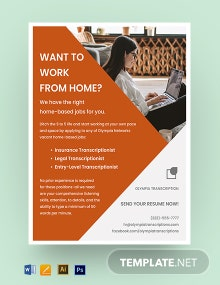 Work From Home Job Flyer Template