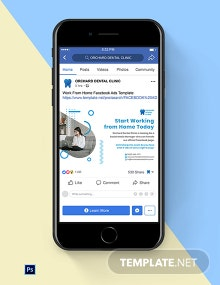 Work From Home Facebook Ads Template