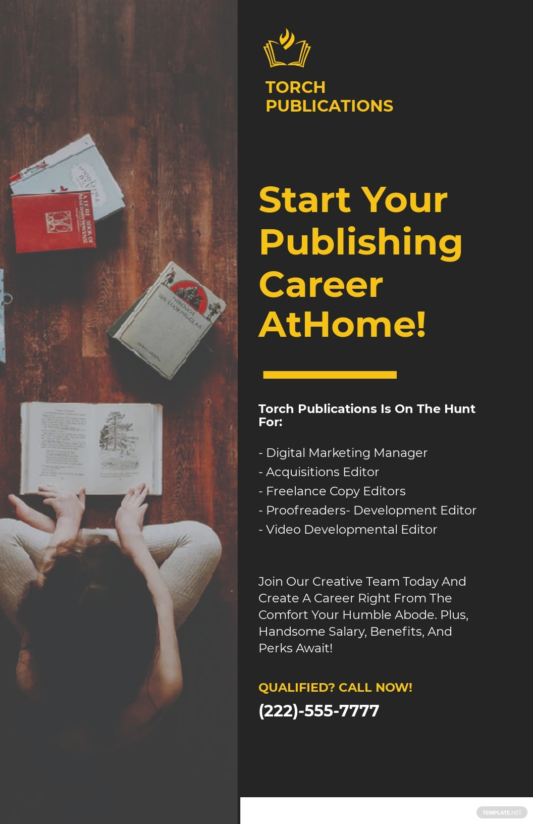 Free Sample Work From Home Poster Template.jpe