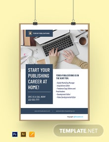 Free Simple Work From Home Poster Template