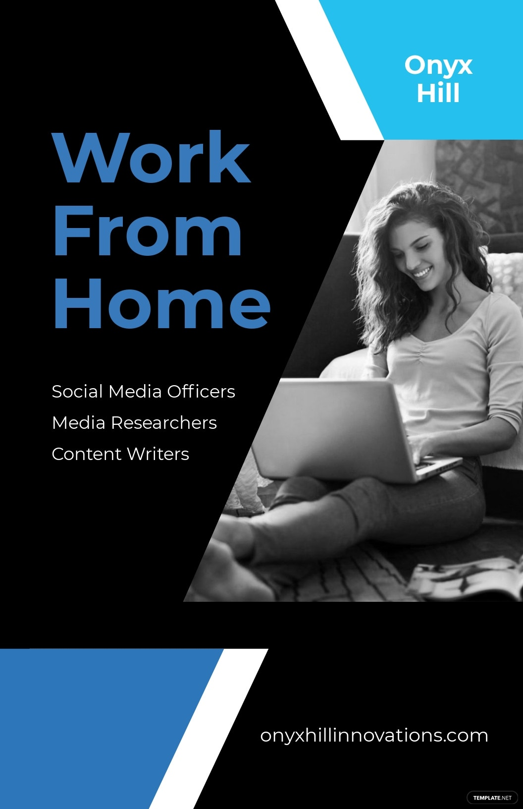 Elegant Work From Home Poster Template