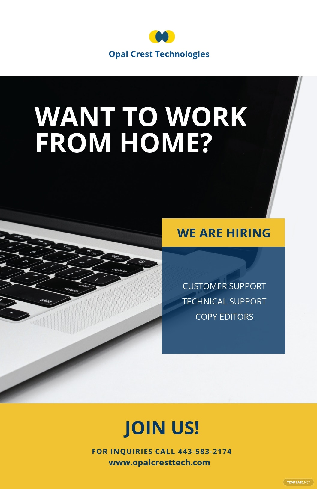 Free Creative Work From Home Poster Template.jpe
