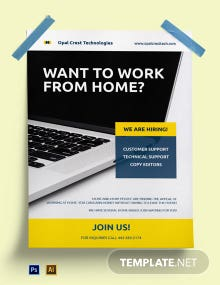 Free Creative Work From Home Poster Template