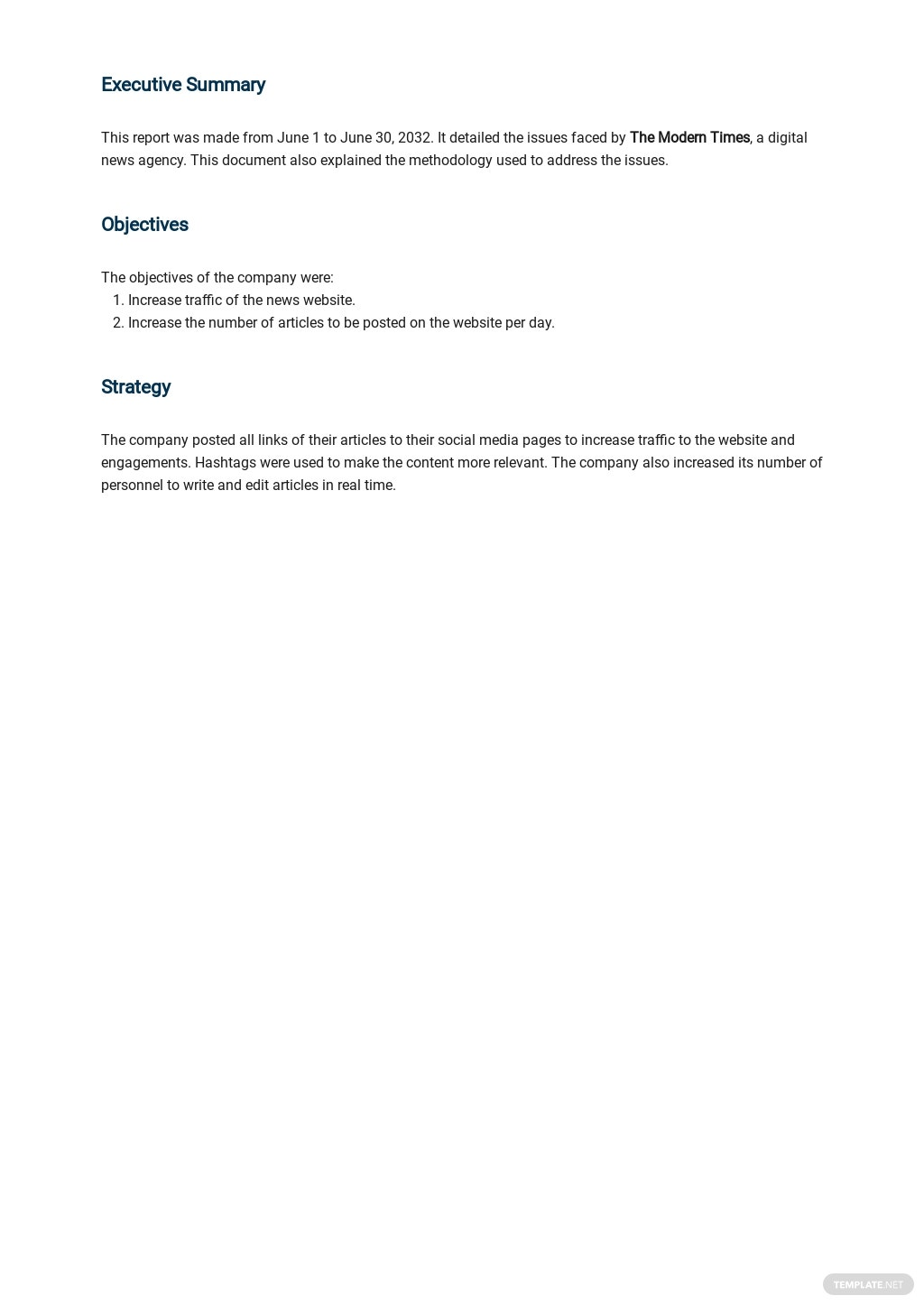 Free Simple Monthly Management Report Template 1.jpe
