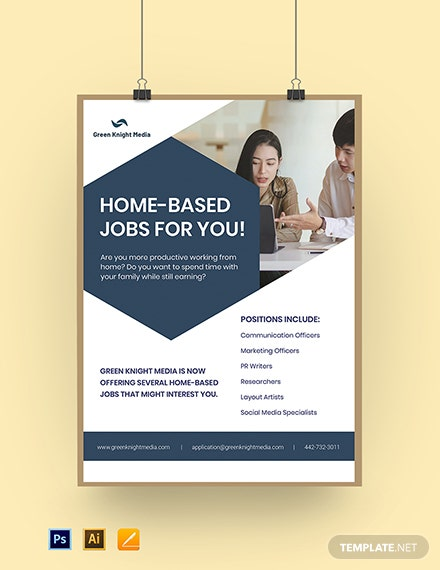 Working From Home Poster Template