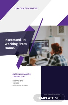 Work From Home Job Poster Template