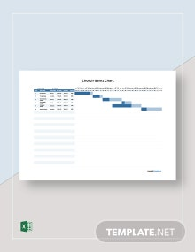 Free Sample Church Gantt Chart Template
