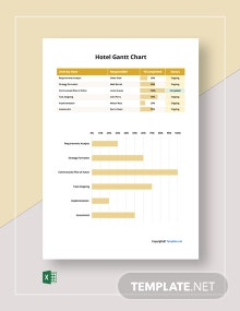 Free Sample Hotel Gantt Chart Template