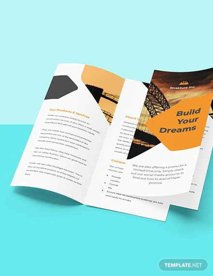 Stay Safe Work From Home Trifold Brochure Template Format